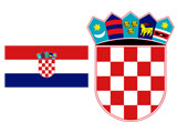 Croatian Flag and Coat of arms